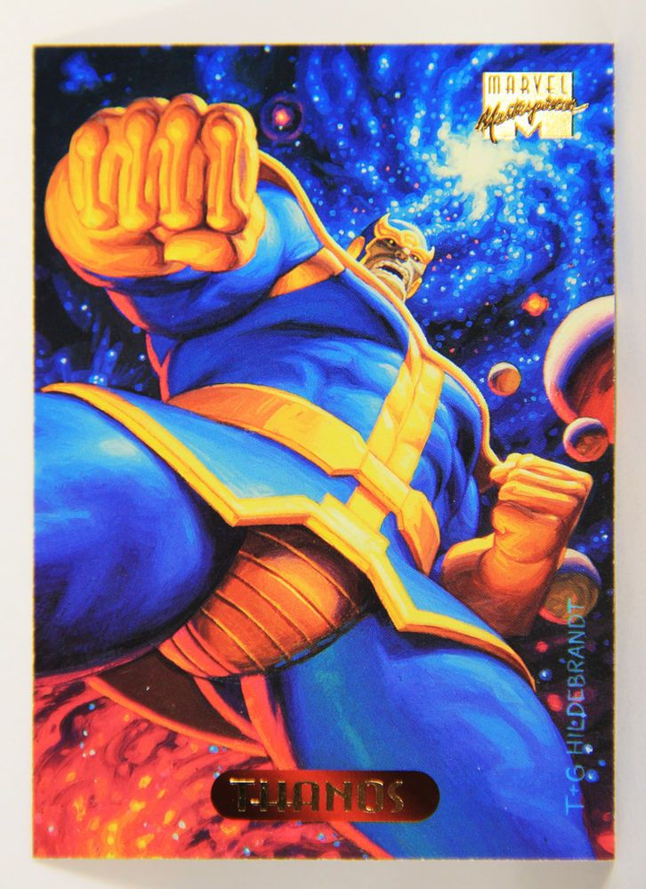 L005322 marvel masterpieces 1994 thanos card 122