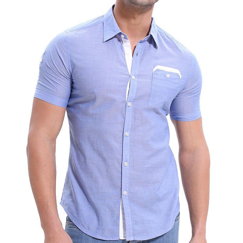 US$23.99] Mens Summer Fashion Splice Pocket Casual Designer