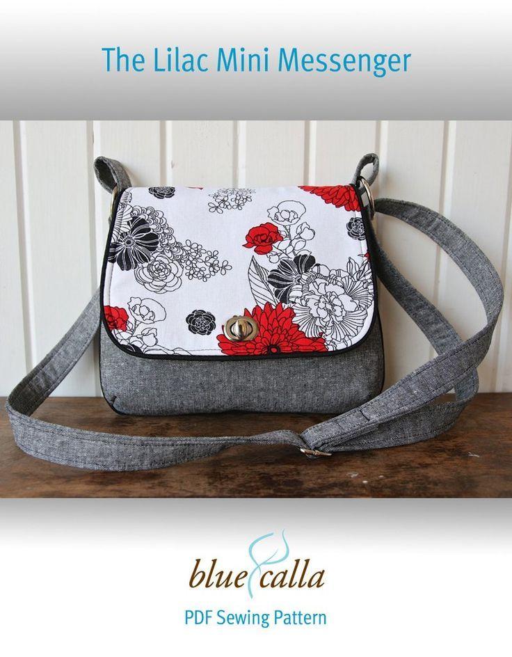 FREE The Lilac Mini Messenger - PDF Sewing Pattern | Sömnad ...