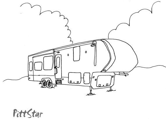 instant download - 5th wheel travel trailer