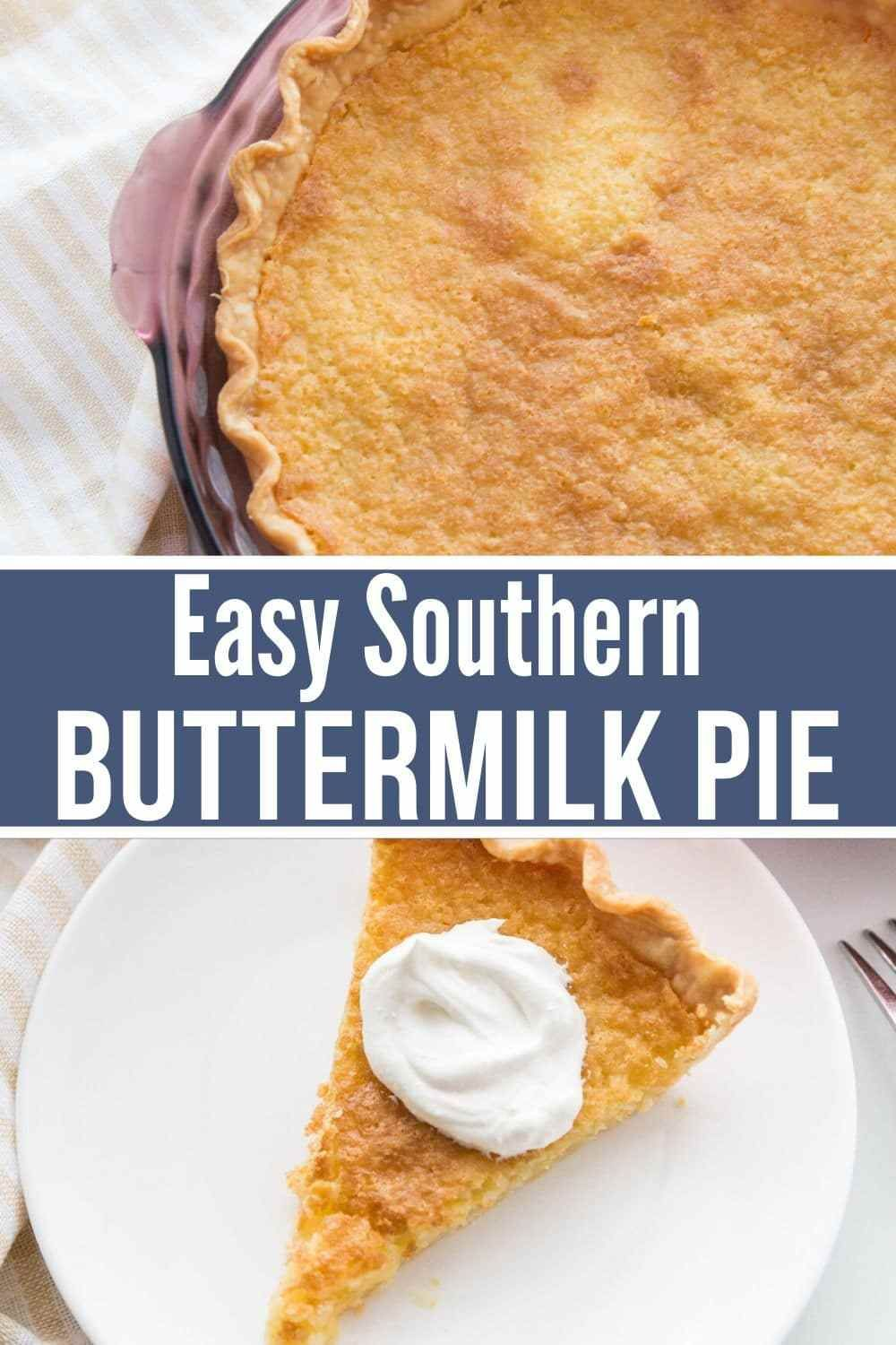 Southern Buttermilk Pie Recipe Recipe Buttermilk Pie Buttermilk Pie Recipe Easy Pie Recipes
