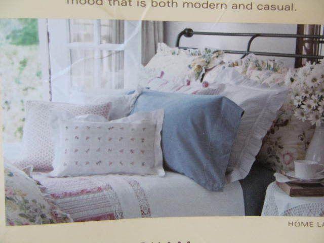 Ralph Lauren Home Lake King Fl Comforter 110 X 96 Chambray Bedskirt Nip