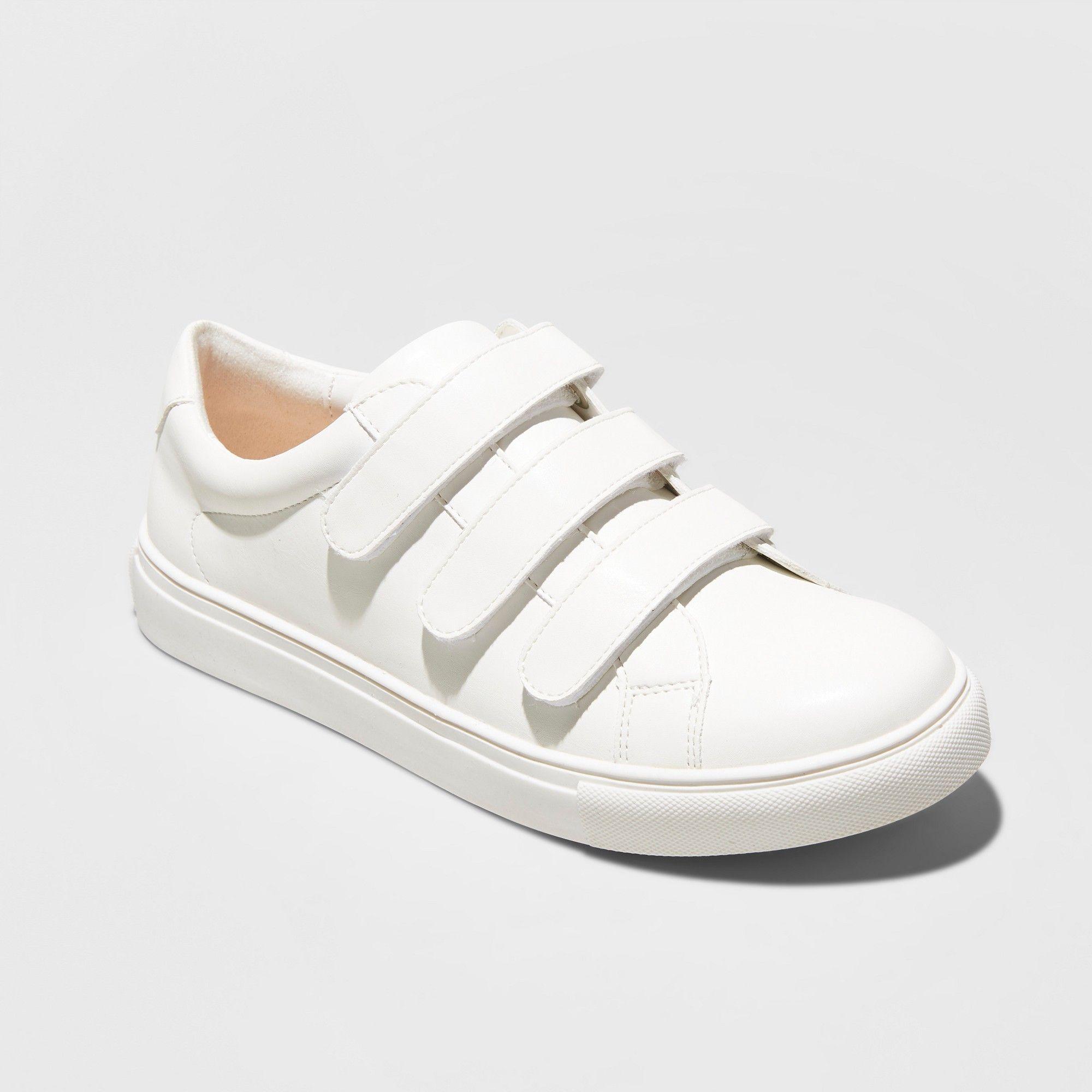 a1b298f20a29 Women s Whitney Wide Width Triple Strap Sneakers - A New Day White 9.5W