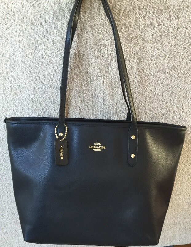 930b5dd5fc66 ... australia nwt coach large black leather tote shoulder bag purse 295  free ship in clothing shoes ...