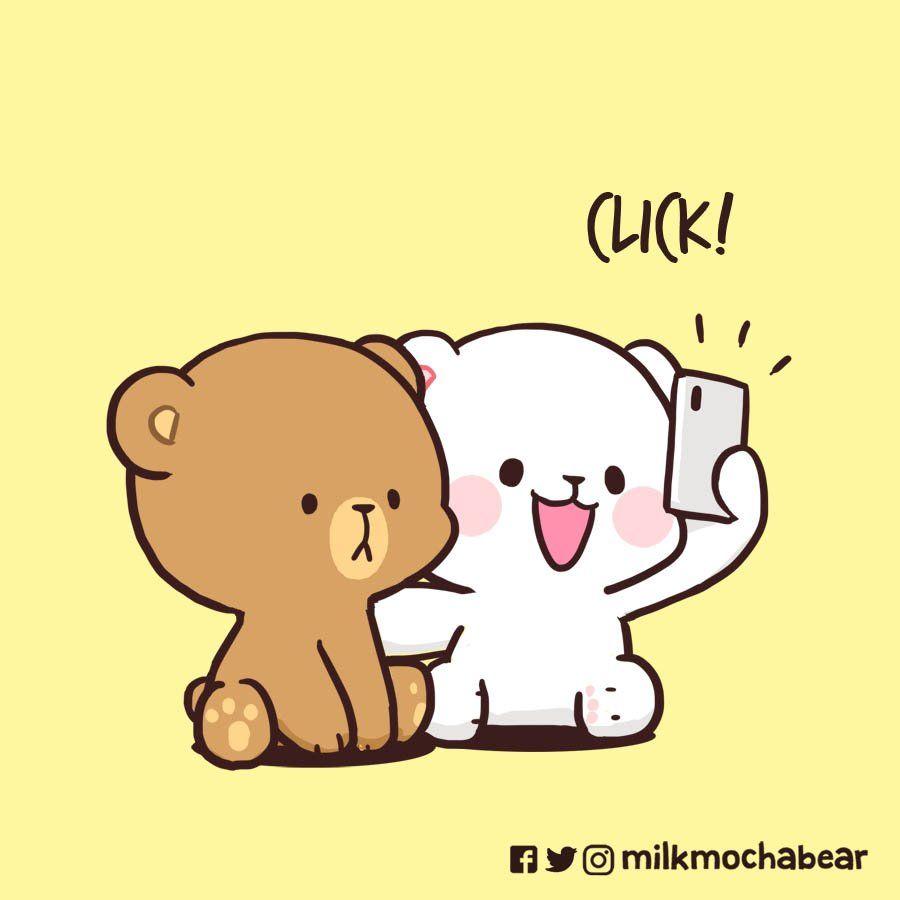Milk Mocha On Twitter Cute Bear Drawings Cute Love Gif Cute Love Cartoons