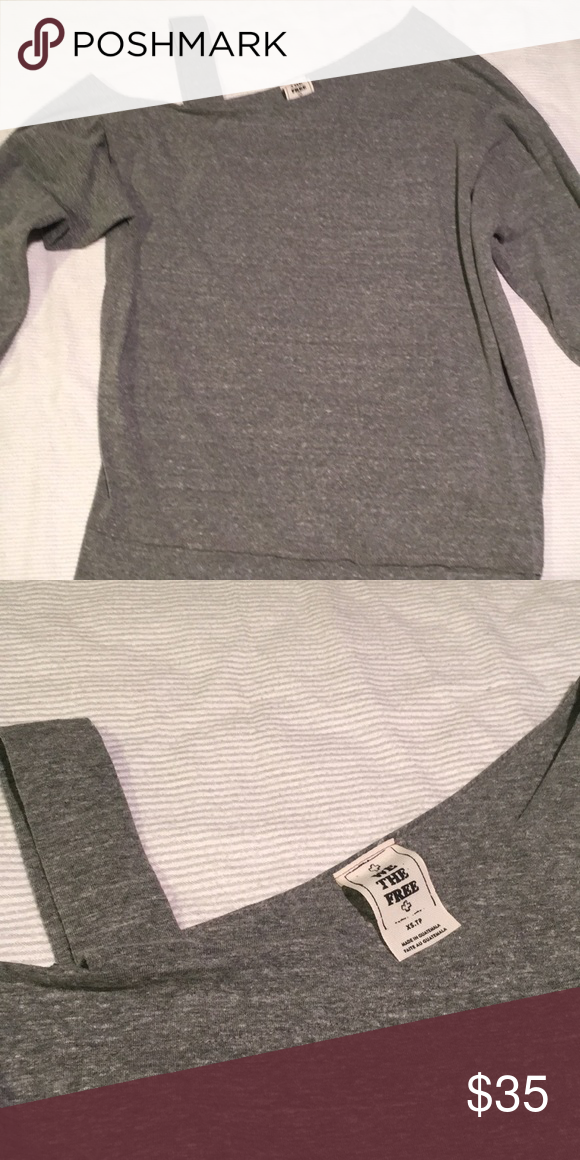 7e6be082e86b97 We the Free/Free People l/s one cold shoulder top Grey long sleeve one cold  shoulder top. In excellent condition (only worn once).