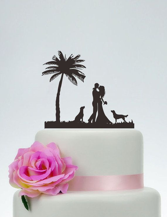 Groom And Bride Cake Topper with the dog,Wedding Cake ...