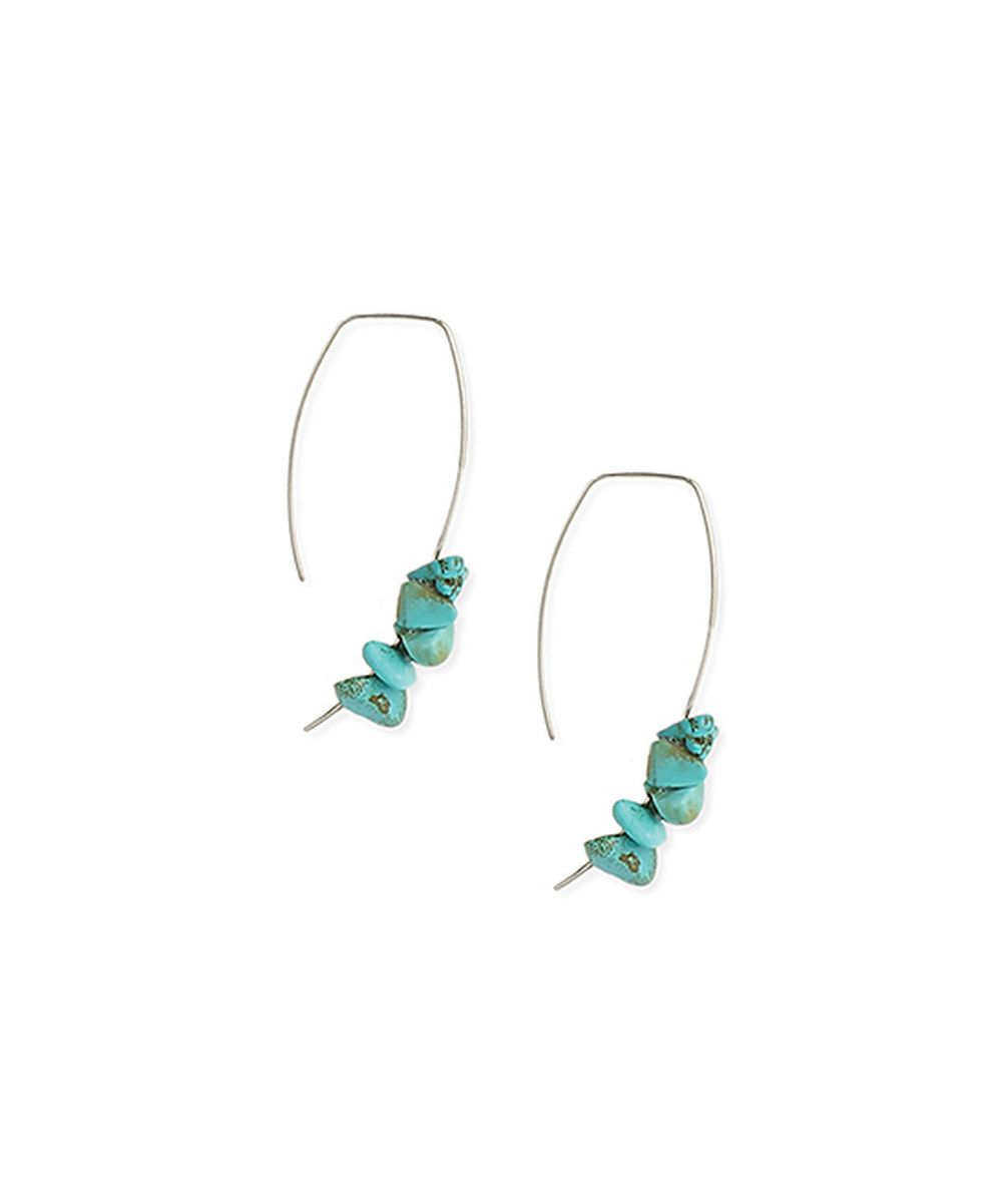 Look at this ZAD Silvertone & Turquoise Agate Ear Threaders on #zulily today!