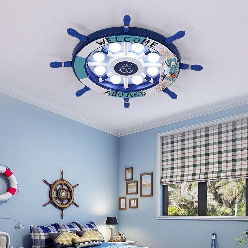 Cartoon Nursery Kids Children Rudder Cloud Ceiling Light Lamp For