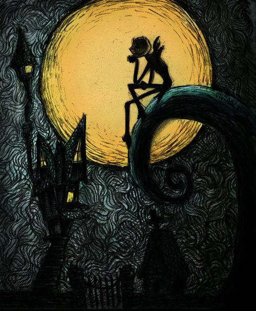 Tim Burton Nightmare Before Christmas Artwork.Nightmare Before Christmas Quothe The Raven Christmas