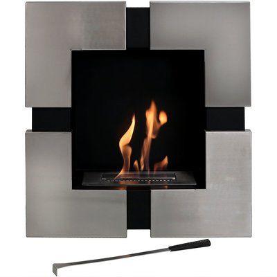 Orren Ellis Prescott Wall Mounted Bio Ethanol Fireplace Bioethanol Fireplace Wall Mounted Fireplace Ethanol Fireplace