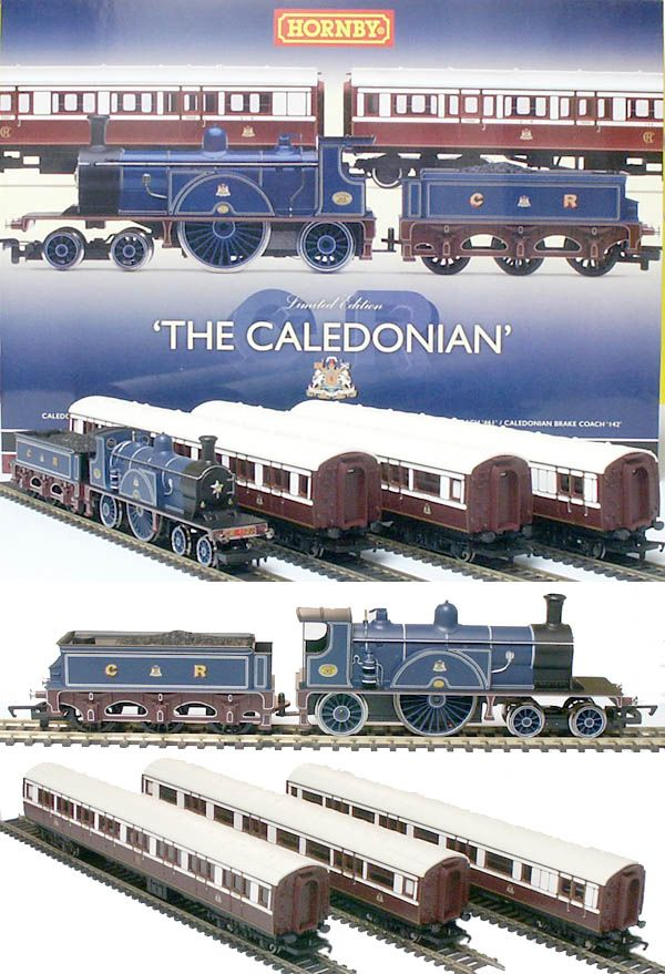 Hornby Oo Caledonian Single 3 Coaches Train Pack R2610