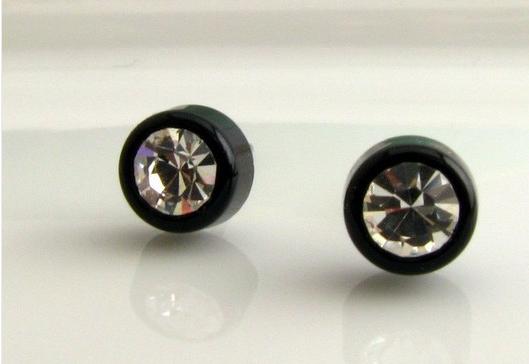 Earring 0 31 38 Cts Aa Round Rose Cut Black Diamond Men S Single Stud Cool