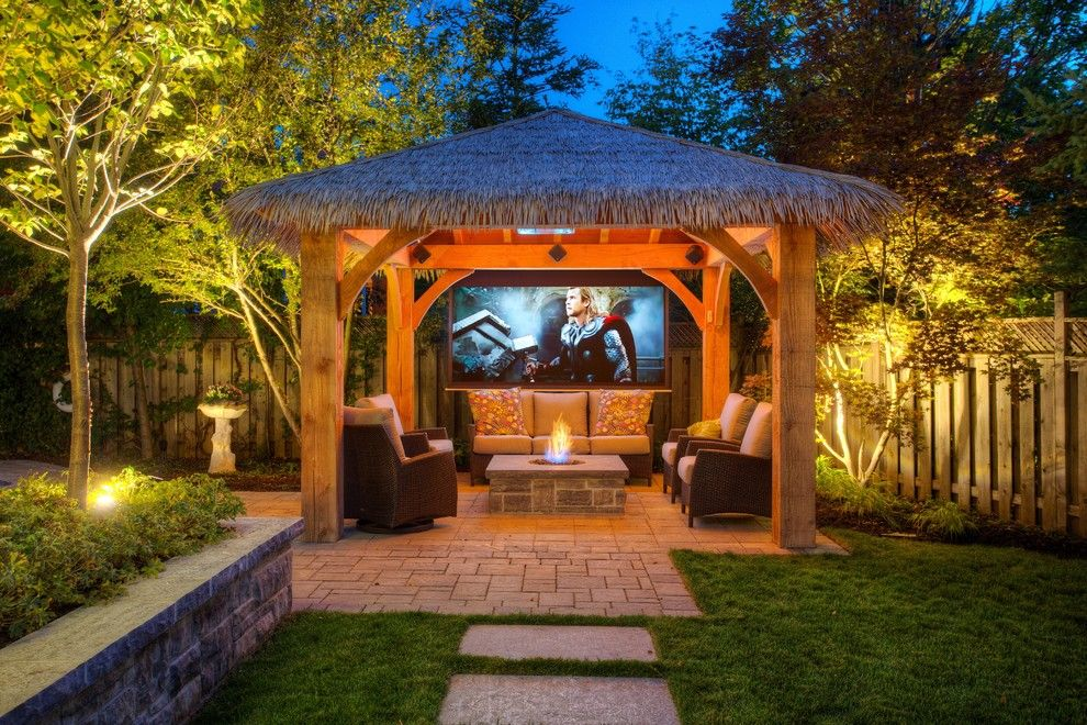 Surprising Gazebo Patio Tropical Design Ideas With Surprising Fire