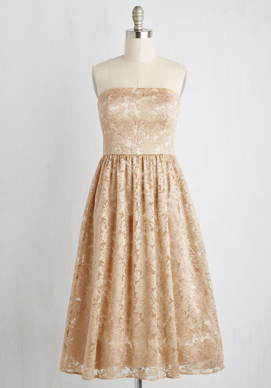 Les nereides duly decadent ring modcloth strapless dress and prom