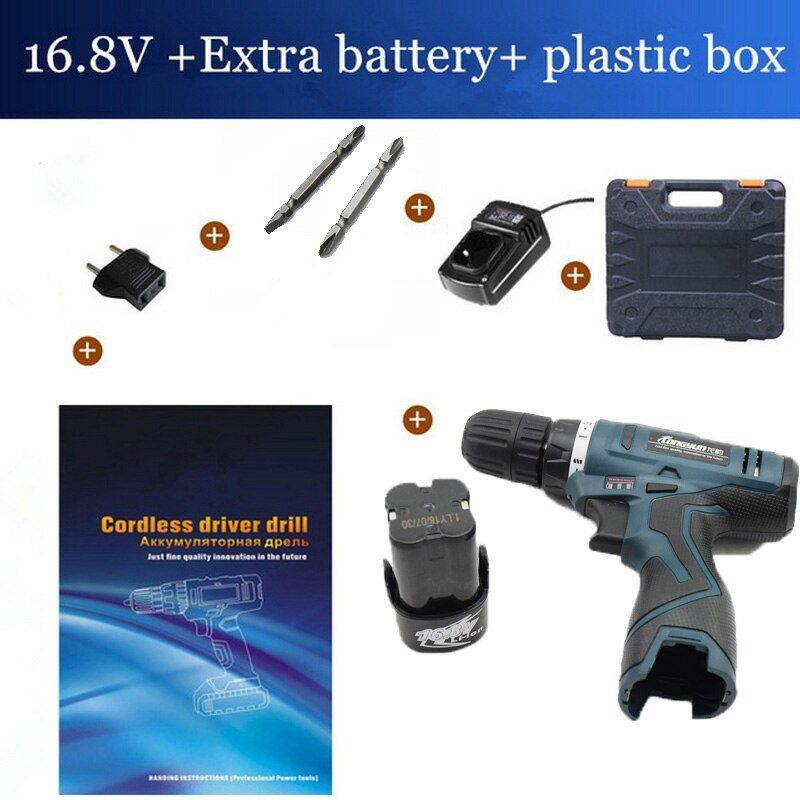 16 8v Cordless With Spare Lithium Ion Battery Electric Drill Home Multifunction 16 8v Cordless With Spare Lithium Battery Electric Drill Drill Cordless
