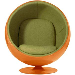 Dot & Bo Egg Bubble Lounge Chair in Orange