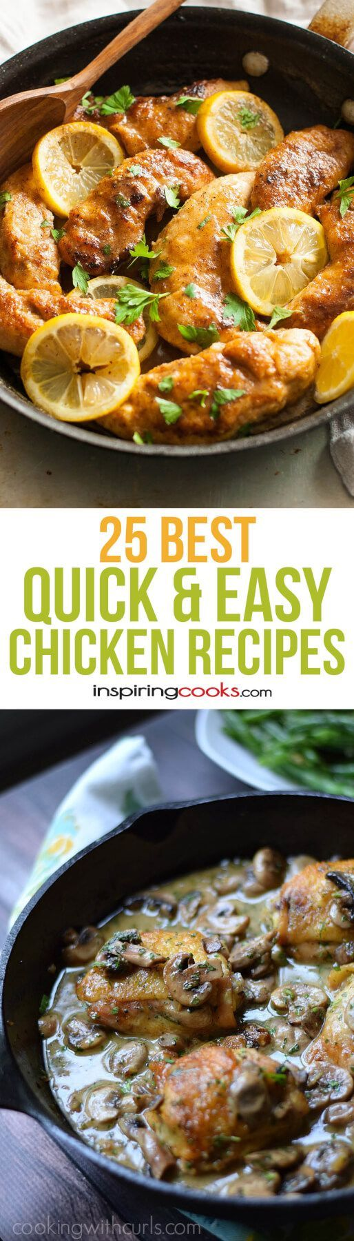 All these quick and easy chicken recipes look so good and so easy. I'm definitely going to try a bunch of these!