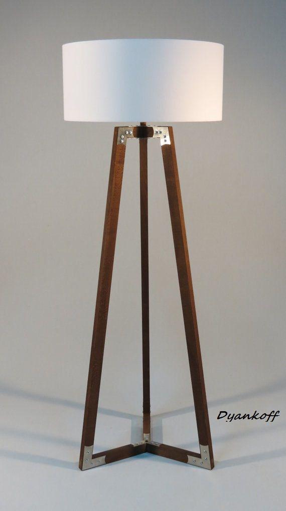 Handmade tripod floor lamp wooden stand in dark by dyankoffshop handmade tripod floor lamp wooden stand in dark by dyankoffshop mozeypictures Images