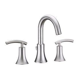 Virtu Usa Athen Brushed Nickel 2 Handle Widespread Bathroom Faucet
