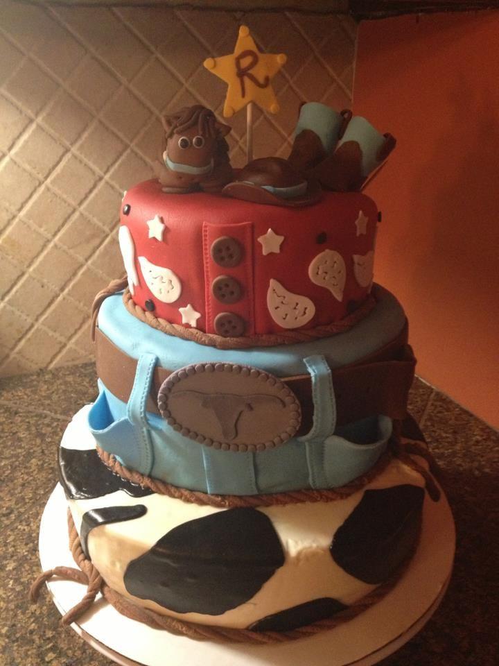 Cowboy Birthday Cake Bakingdesserts Pinterest Cowboy Birthday