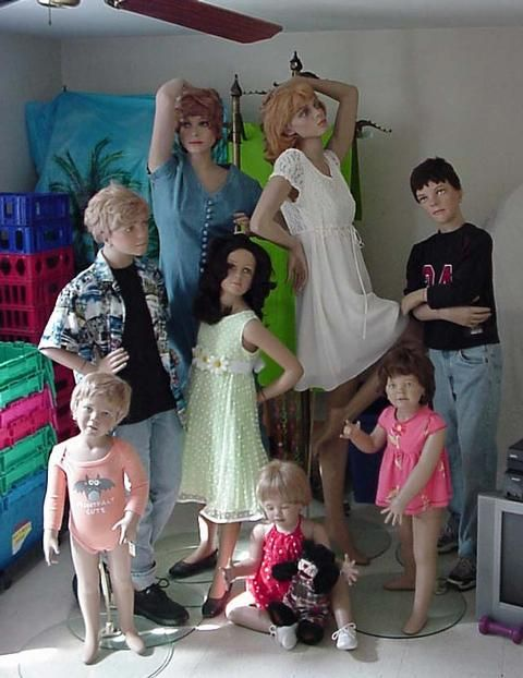 8 Mannequins lady boy girl toddler child teen - Classifieds