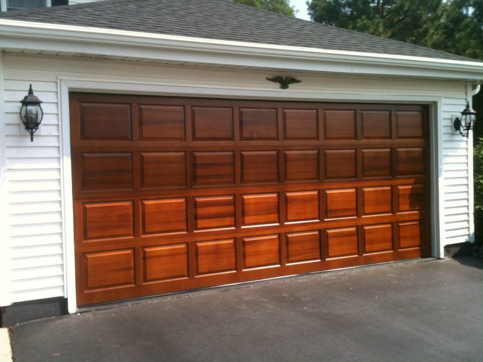 Clopay Classic Collection Raised Panel Wood Garage Door In Cedar,  Factory Finished With Sikkens
