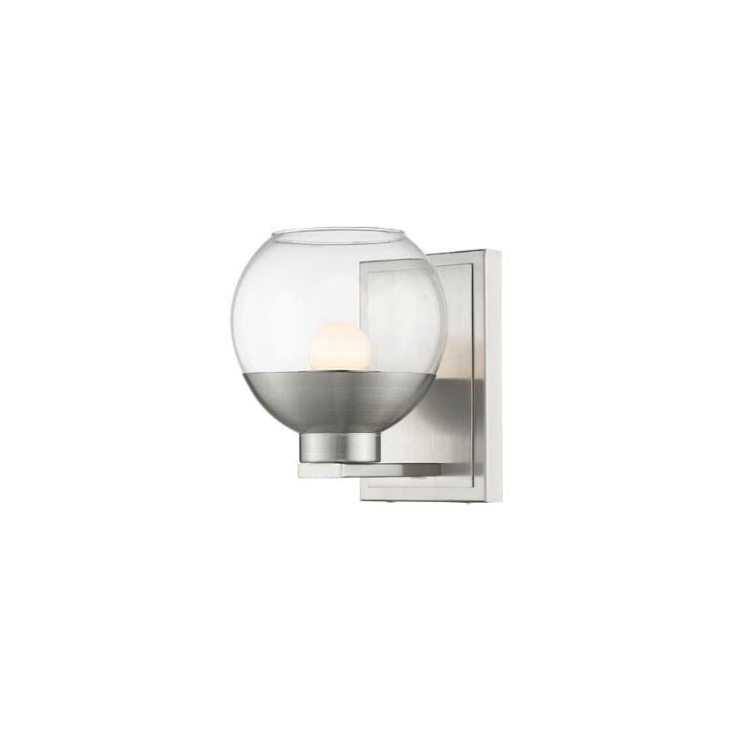 Photo of Z-Lite 1924-1S-LED Osono Single Light 7-1/4″ Wide Integrated LED Bathroom Sconce Brushed Nickel Indoor Lighting Bathroom Fixtures Bathroom Sconce