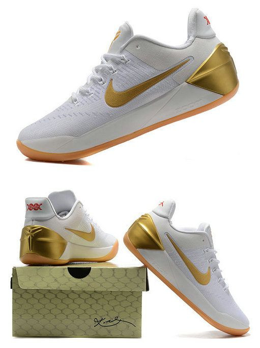 2017-2018 Newest And Cheapest Latest Kobe AD Big Stage NBA Finals 2017 White  Gold