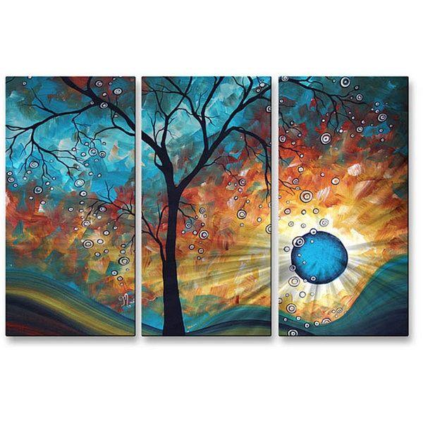 Megan Duncanson 'Aqua Burn' Metal Wall Art - Free Shipping Today - Overstock.com - 14281610 - Mobile