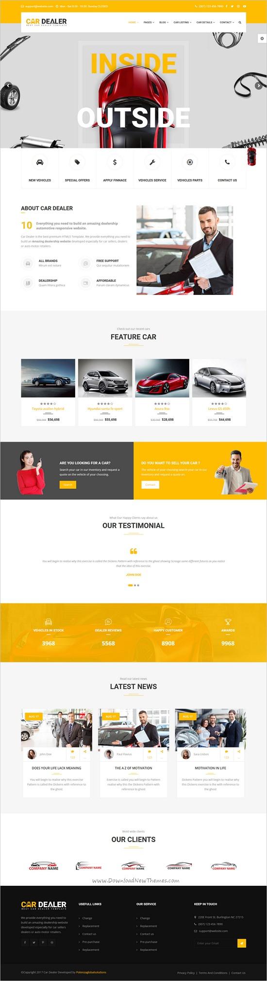 Car dealer the best car dealer automotive responsive html5 template