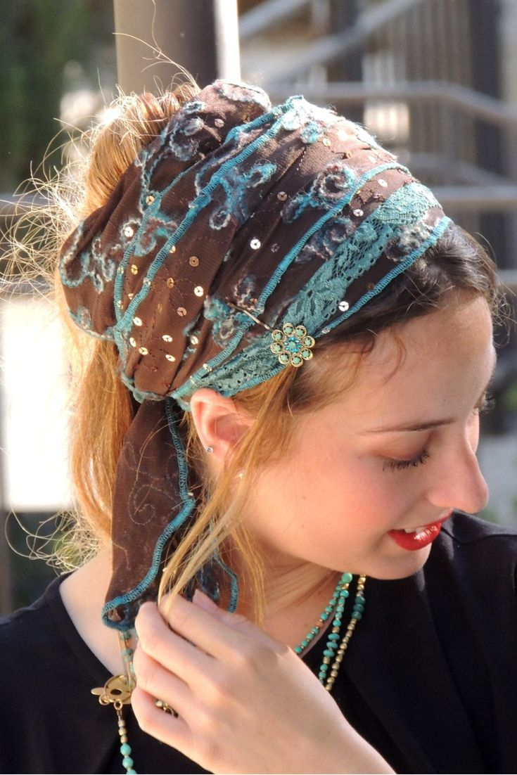 Yoga headband Head scarf headband Fashion accessory Hairwrap Many colors Headwrap Androgynous clothing Linen bandana scarf