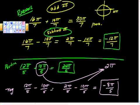 Finding Coterminal Angle degrees radians positive negative