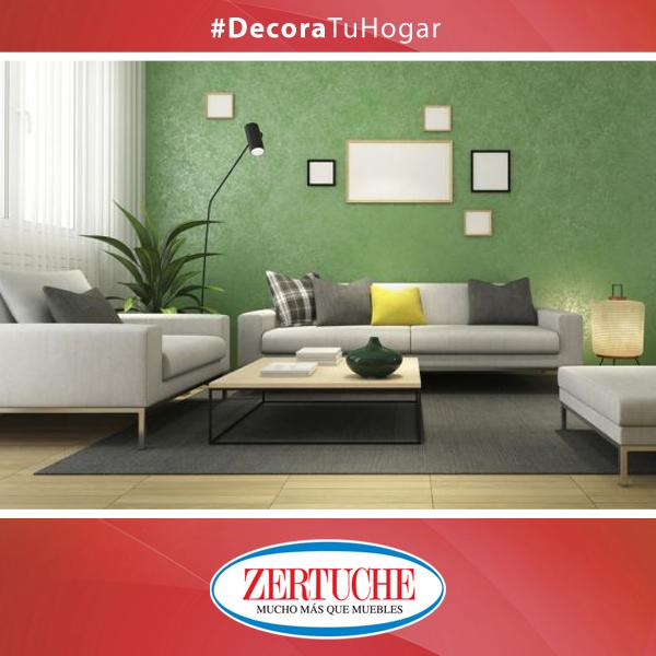 El color de las paredes son el protagonista en la decoración. Decorar una pared con cuadros ubicados en forma asimétrica. Esto dará un toque moderno.   #Decoracion #Hogar #Cuadros #Asimetria