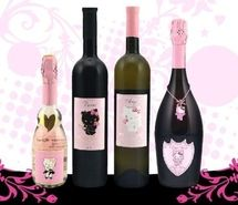 Inspiring picture black, champagne, hello kitty, pink, red wine, white wine. Resolution: 500x401 px. Find the picture to your taste!