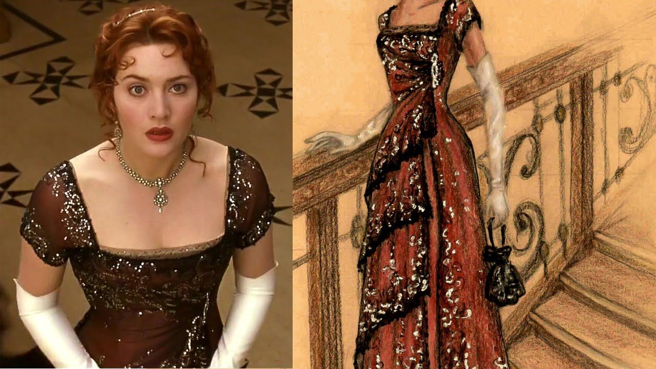 Kate Winslet Titanic Red Dress 5098 | DFILES | cate ...