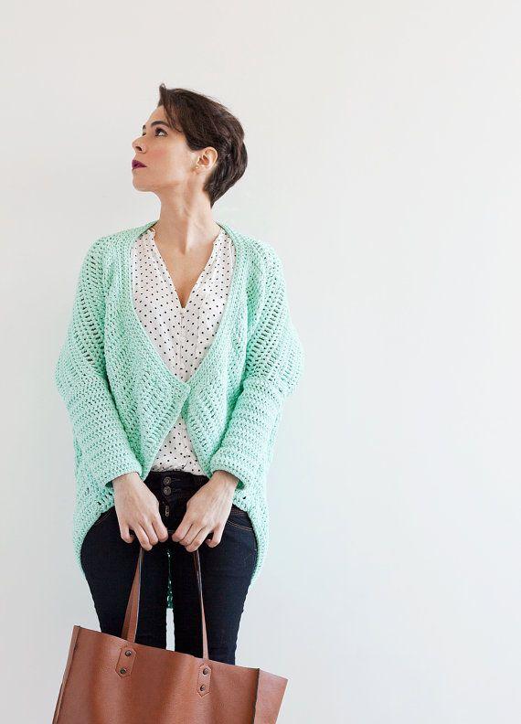 Mint Kimono Jacket Crochet PDF Pattern for Download | Madeja ...