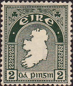 Postage Stamps of Eire Ireland 1940 SG 114 Map Fine Used Scott 108 Stamps For…