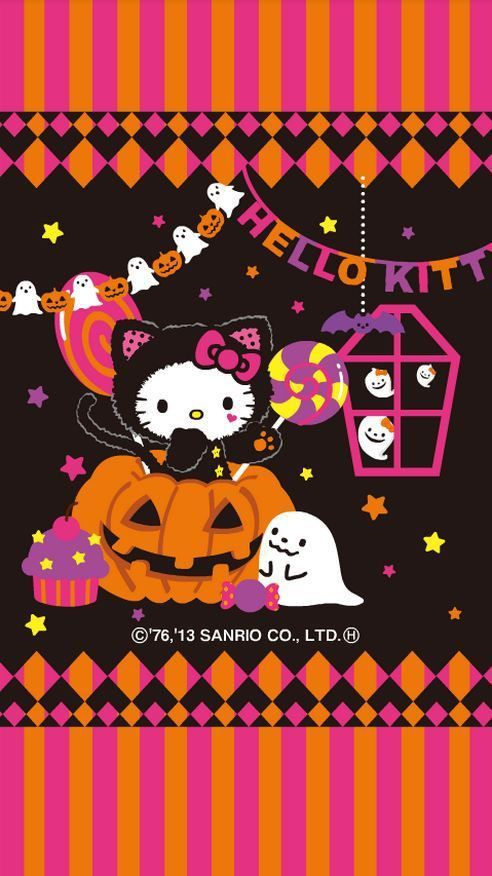 Cute Kawaii Hello Kitty Halloween Wallpaper Hello Kitty Halloween Hello Kitty Wallpaper