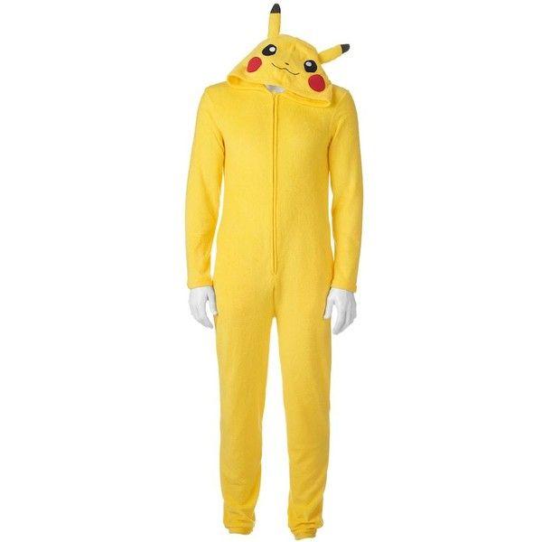 Big u0026 Tall Pokemon Pikachu Union Suit (u20ac18) ? liked on Polyvore featuring menu0027s fashion menu0027s clothing yellow mens clothing mens big and tall golf ...  sc 1 st  Pinterest & Big u0026 Tall Pokemon Pikachu Union Suit (u20ac18) ? liked on Polyvore ...