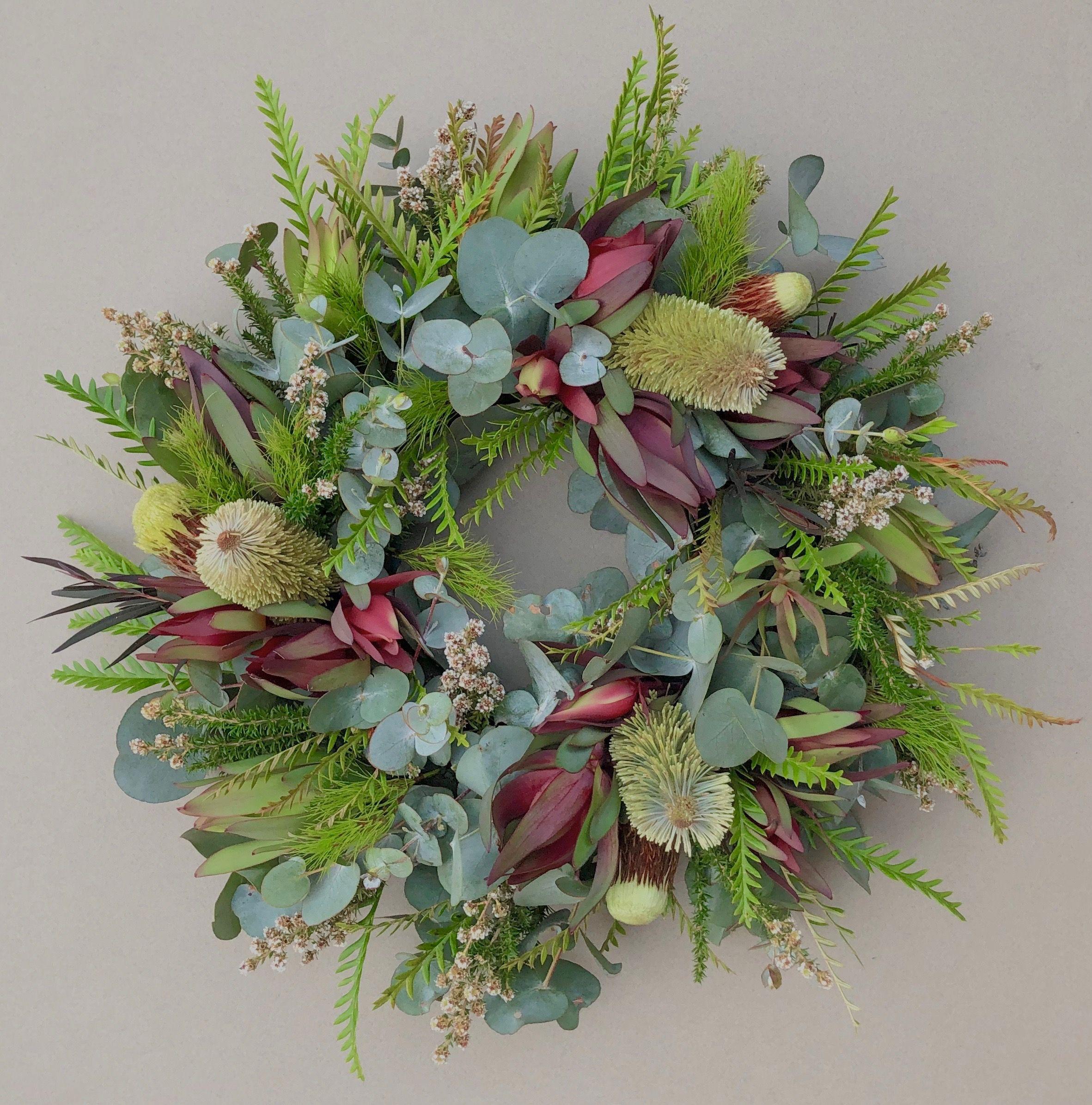 Anzac Wreath by Native Bunch. All Australian foliage with