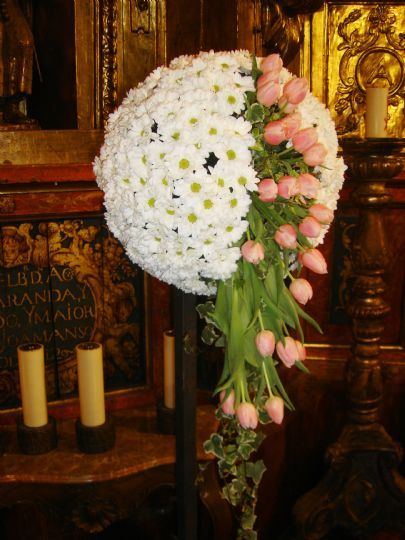 Bola de flores para decoraci n de bodas flores para boda - Arreglos de flores para bodas ...