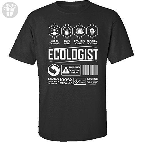 Multitasking Likes Beer Coffee Ecologist Birthday Gift - Adult Shirt 4xl Black - Birthday shirts (*Amazon Partner-Link)