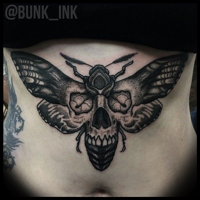 8 Bold Black Moth Tattoos Moth Tattoo Black Butterfly Tattoo Neck Tattoo