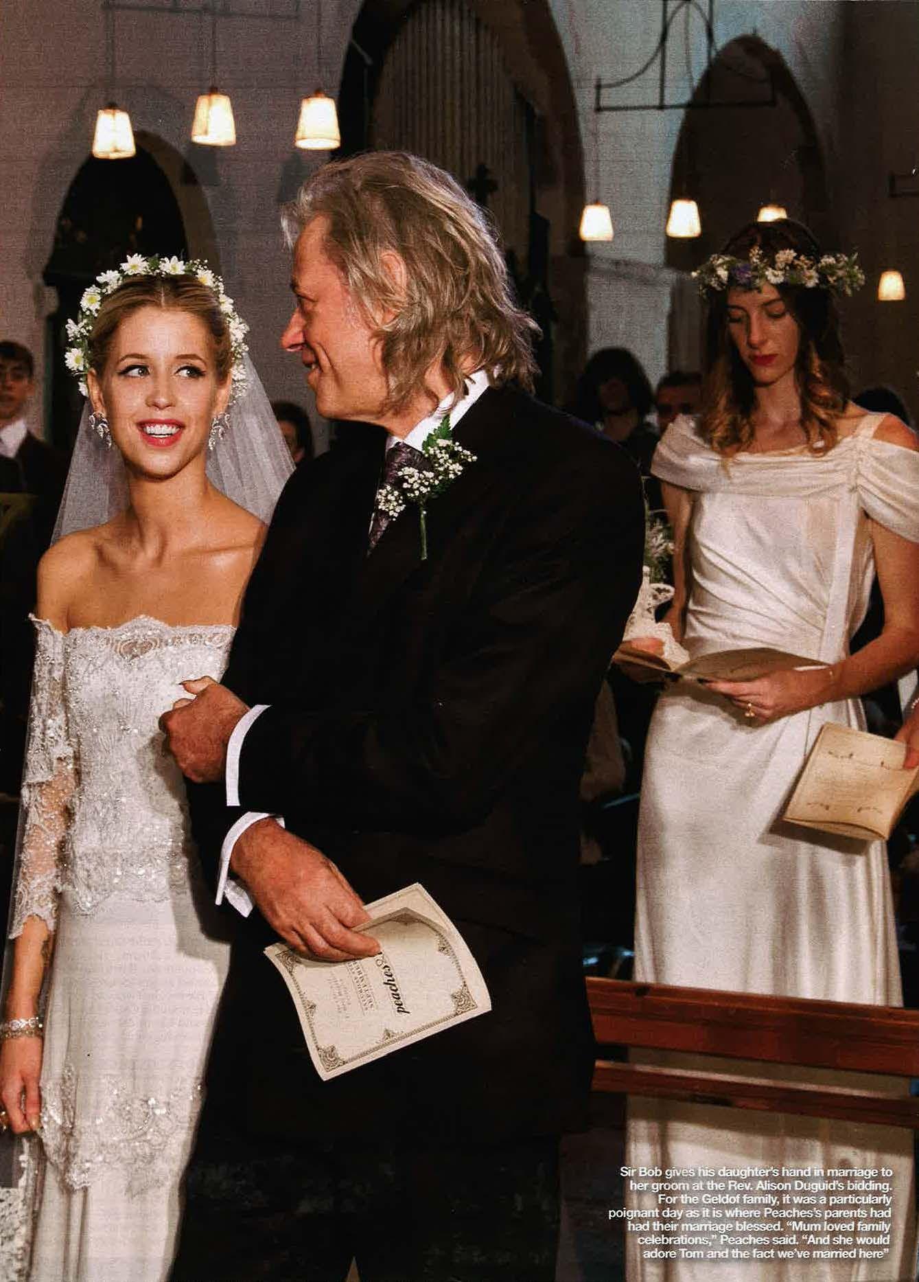 Peaches geldof wedding dress  Beautiful Peaches with her special Alberta Ferretti wedding dress