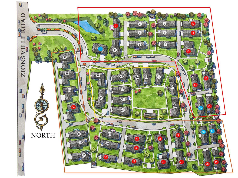 Zionsville Inglenook Site Plan Design Site Development Plan Urban Design Plan