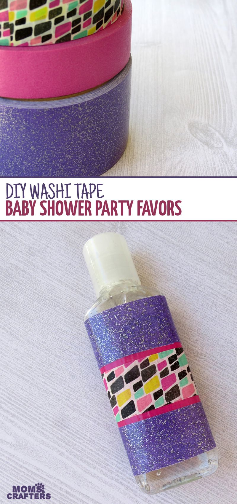 Baby Shower Favors Washi Tape Hand Sanitizer Baby Shower