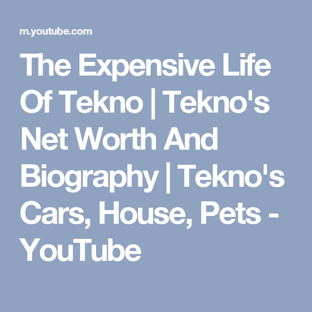 The Expensive Life Of Tekno   Tekno's Net Worth And