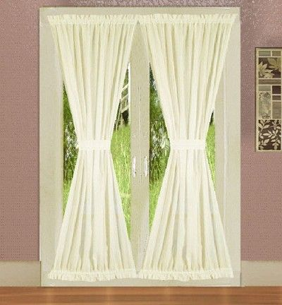 Soft White French Door Curtains French Door Curtains Door