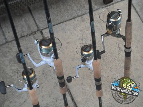 My set up for the fall bite - St  Croix Extreme rods with